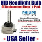 HID Headlight Hi/Low GENUINE German PHILIPS fits Select Saturn & Rolls Royce D1S