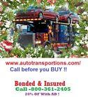 North Dakota Auto Transport & Towing 15% OF Bonded & Insured