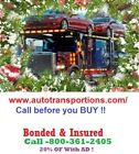 North Carolina Auto Transport & Towing 15% OF Bonded & Insured