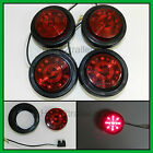 """(4) RED 13 LED Light Trailer 2-1/2"""" round,w/plug,Grommet Clearance marker 2.5"""""""