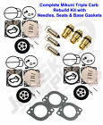 Yamaha Triple Mikuni Carburetor Rebuild Kit w Needle, Seat & Gaskets GP1200R