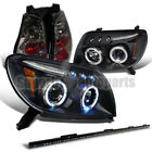 """fit 03-05 4runner Projector Headlights Black+Tail Lamps Smoke+49"""" LED Light Bar"""