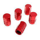 5 Premium Red Aluminum Tire/Wheel Air Stem Valve Caps for car-truck-hot rod