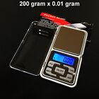 New 200g x 0.01g Mini Digital Precision Scale Jewelry Pocket Gram LCD US