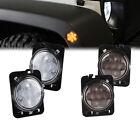 Clear Smoke Tint Side Marker Fender Parking LED Light For 07-18 Jeep Wrangler JK