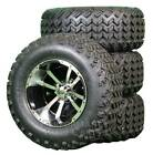 "12"" Storm Trooper Black / Machined Golf Cart SS Wheels with 23"" Lifted Tires"