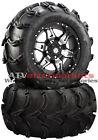 """STI HD7 Machined 14"""" Wheels on 27"""" Mud Lite XL Tires for Honda Rincon IRS"""