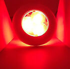 MARINE RV TRAILER TRUCK BUS BOAT RED LED ROUND COURTESY LIGHT WITH MOUNT RING