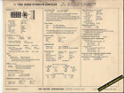 1969 DODGE-PLYMOUTH-CHRYSLER 383 ci 330 hp Engine Car SUN ELECTRONIC SPEC SHEET