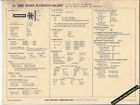 1968 DODGE-PLYMOUTH-VALIANT 225ci 145 hp W/CLEANER Car SUN ELECTRONIC SPEC SHEET