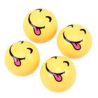 4Pcs Car Yellow Smile Face Ball Wheel Tyre Valve Stems Air Dust Caps Universal