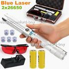 Most Powerful Focusable Burning Blue Laser Pointer Laser Torch 26650 Battery USA