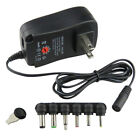 Durable 30W AC/DC Wall Plug-in USB Charger Adapter 3V-12V with 6 DC Tips US Plug