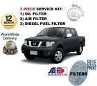 pour Nissan Navara D40 3.0TD 2010> Kit Entretien Huile Air ESSENCE DIESEL