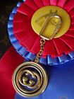 Ultra RARE Auth Vintage GUCCI ENAMEL Key Ring Bag Charm Luggage Tag Accessory