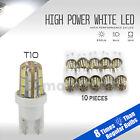 High Power 628LM 6000K White T10 921 Interior/License Plate SMD Light Bulbs
