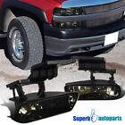 1999-2002 Chevy Silverado Driving Fog Lights Bumper Lamps+Bulbs Smoke