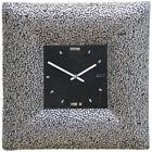 Brand New Art Glass gold mosaic wall clock Platinum Quadrate by Ponyglass