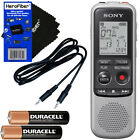 Sony ICD-BX140 MP3 4GB Digital Voice IC Recorder + Aux Cable + 2 AAA Batteries