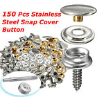152PCS Stainless Steel Boat Marine Canvas Fabric Snap Cover Button & Socket Kit