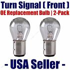 Front Turn Signal/Blinker Light Bulb 2 pack - Fits Listed Ford Vehicles 198