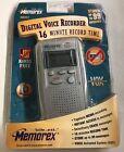 Memorex 16 Minutes Personal Digital Voice Recorder MB002-04 New