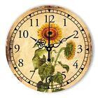 European Countryside Retro Wall Clock Simple Decor Mute Sunflower Wall Clock