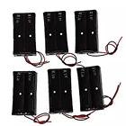 6 Pcs Black Plastic 2 x3.7V 18650 Type Battery Holder Box Storage Case