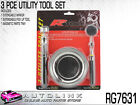 PROKIT RG7631 3 PCS TOOL SET TELESPOPIC PICKUP TOOL + MIRROR & STEEL MAGNET TRAY