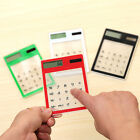Solar Touch Screen LCD 8 Digit Electronic Transparent Calculator Portable GREAT