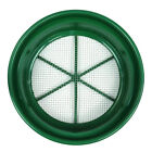 "Green Plastic 13-1/4"" Gold Sifting Pan Classifier 1/4 Mesh Size"