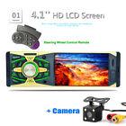 "1 DIN HD Car RadioBluetooth MP5 Player FM  USB/TF AUX W/Remote 4.1"" +Camera"