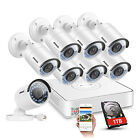 ANNKE 8pcs 960P IP Camera 8CH 1080P NVR Home Outdoor Security POE System 1TB HDD