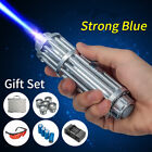 450nm Blue Beam Laser Pointer Pen 5 Head+Case+Battery+Charger+Goggles 0.5MW