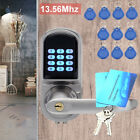 Electronic Digital Keypad Password Door Lock Security Code+Key+10 RFID Card Tag
