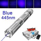 Laser Pen SET Blue Pointer Beam Heads + Case + Battery + Charger + Goggles