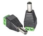 Male Barrel Connector Plug 5.5mm x 2.1mm for CCTV Cameras / Single Color LED Str