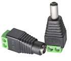 Male and Female Barrel Connector Plug 5.5mm x 2.1mm for CCTV Cameras / Single Co