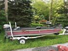 1989 Tuffy Roustabout Esox with Trailer and 15 HP Mariner Outboard