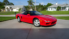 1991 Acura NSX 2-door 2-seater coupe 1991 Acura NSX 5-Speed Red/Black 9,802 ACTUAL MILES! Excellent Cond NO RESEERVE!