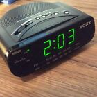 Sony Dream Machine Alarm Clock Radio AM FM Green LED ICF-C212 Backup Battery