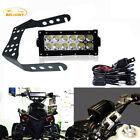 """6"""" inch Led Light Bar+Handlebar Mount Bracket LTR450 LTZ400 Z400 KFX400 ATV UTV"""