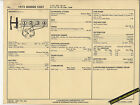 1973 DODGE COLT 4 Cylinder 100 hp / 97.5 ci 2 BBL Car SUN ELECTRONIC SPEC SHEET