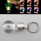 Silver Bright LED Flash Lights Mini Bulb Key Keyring Xmas Keychain Keyring Lamp