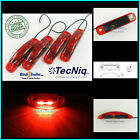 (4) TecNiq RED 2 LED light Clearance Marker Trailer Truck Surface Mount 1 wire