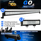 """52Inch LED Work Light Bar Combo + 12"""" in CREE Pods Offroad 4WD Driving SUV 50 20"""