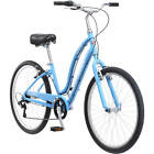 "Town Travel Bike 26"" Ladies Schwinn Candis Light Blue Fresh Light New"