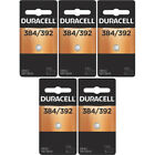 5 Pack Duracell Power Preserve Silver Oxide Battery 384/392 (and Equivalent)