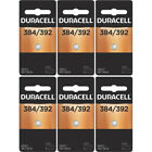 6 Pack Duracell Power Preserve Silver Oxide Battery 384/392 (and Equivalent)