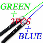 2PCS 2in1 Green + Blue Laser Pointer Pen Lazer Visible Beam Light Lazer USA FAST